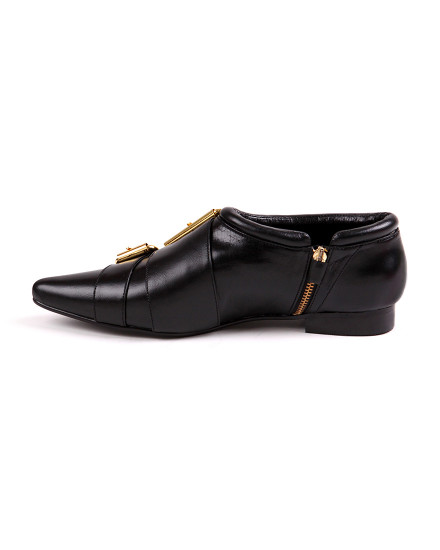 Double Buckle Shoes - Black