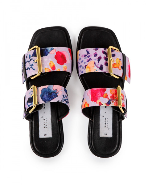 KALA X MADER Double Buckle Square Toe Spring Fling
