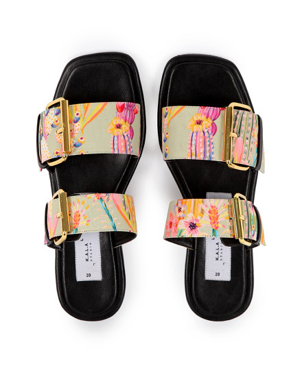 KALA X MADER Double Buckle Square Toe Cactus Lust
