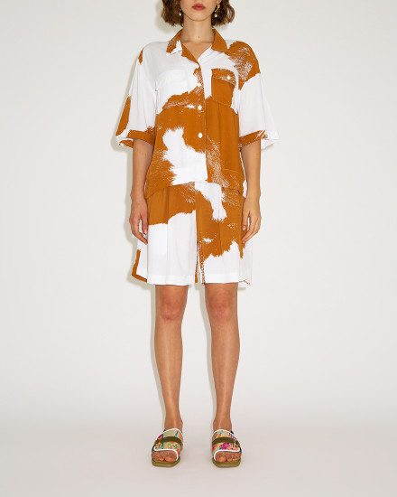 Mader RTW - Brown Cow Print Safari Set