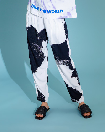 Mader RTW - Black Cow Print High Waisted Pants